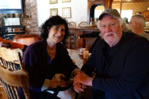 Best friends: David Milarch and Cindy Spiegel, editor of the book about David, The Man Who Planted Trees.